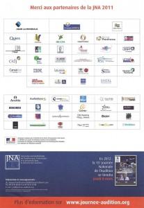 remerciements partenaires JNA 2011